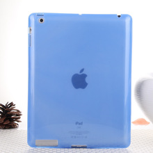 Hot Sale Fashion Jelly Color Transparent Silicon Back Cover for iPad 2 iPad 3 iPad 4 Comfortable Soft Gel Case for iPad 2 3 4