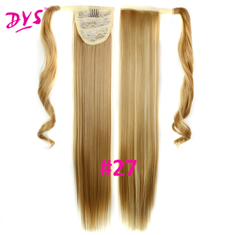 Deyngs 60cm Long Straight Clip In Hair Tail False Hair Ponytail Hairpiece With Hairpins Synthetic Hair Pony Tail Hair Extensions (7)