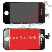 For iphone 4S lcd screen with touch digitizer +frame assembly by free DHL, UPS or EMS; 100% warranty; 5pc/lot