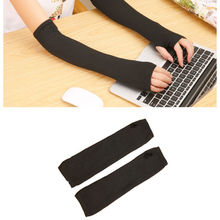1 pair HOT Women Stretchy Long Fingerless Gloves Cashmere Blend Arm Warmers Sleeves clothing accessories