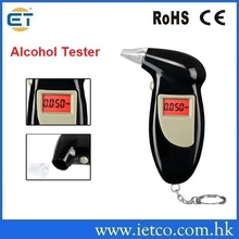 high precision personal drive safety digital keychain alcohol breathalyzer tester