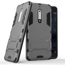 Phone Case For Nokia 5 Heart Hybrid Back Armor Cases Heavy Duty Rugged Mobile Phone Back Cover For Nokia 5 TA-1030 TA-1008