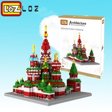 LOZ Architecture Saint Basil's Cathedral Gift Series Diamond Blocks Building Blocks City House Toy Russia Church Model for kid(China)