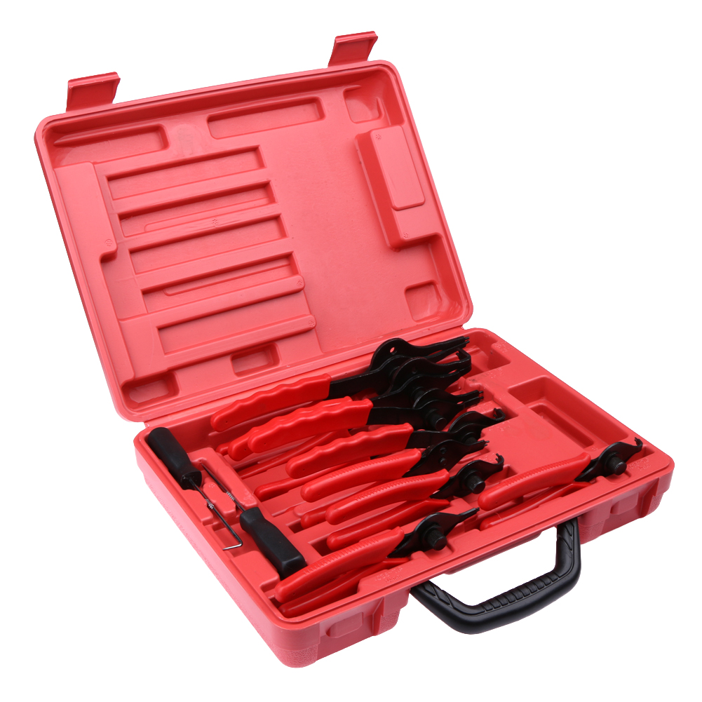 Snap Ring Plier Set 11pc Mechanic PRO Circlips w/Case Car Truck Motorcycle NG4S<br>