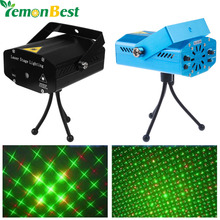 Mini Club Disco Light DJ Projector Stage Laser Light Patry Green Red Music Control Function US /UK /AU /EU LemonBest