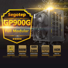 Segotep 800W GP900G Full Modular ATX PC Computer Power Supply Gaming PSU 12V Active PFC SLI Ready 91% Efficiency 80Plus Gold(China)