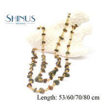 Buy Shinus Necklace Maxi Jewelry Women Collier Love Statement Necklaces Kolye Bijoux Femme Link Chain Handmade Natural Stone Beads for $4.07 in AliExpress store
