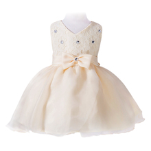 Elegant Baby Girls Formal Dress Kids Infant Flower Girl Rhinestone Ball Gown Layers Tutu Dress Birthday Party Princess Dresses(China)