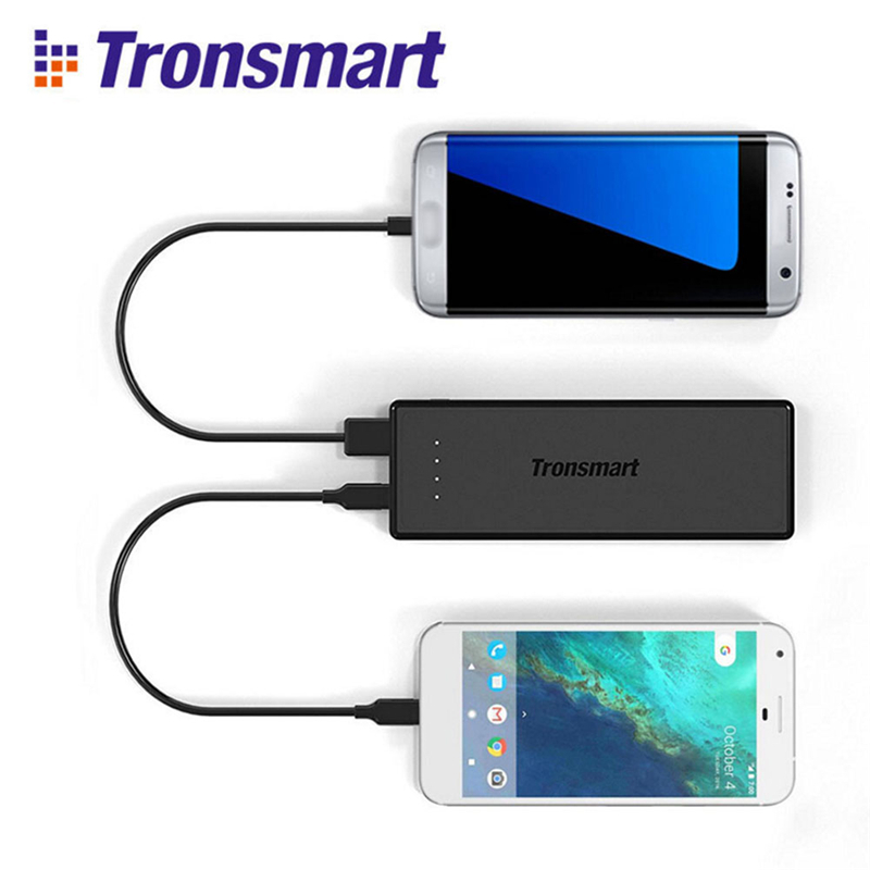 Tronsmart Presto Power Bank 10400mAh Lithium-ion Battery Universal USB Type-C Quick Charge 3.0 Portable Power Bank phone