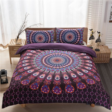 2017 NEW Brand Chrome Hearts bohemia style bedding sets 3piece sheet Bed Sheet pillowcase Duvet Cover Fit Home/hotel/condo