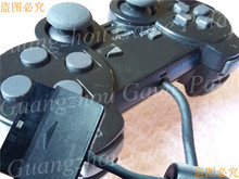 Black second-hand origina joypad replace for playstation2 ps2 controller