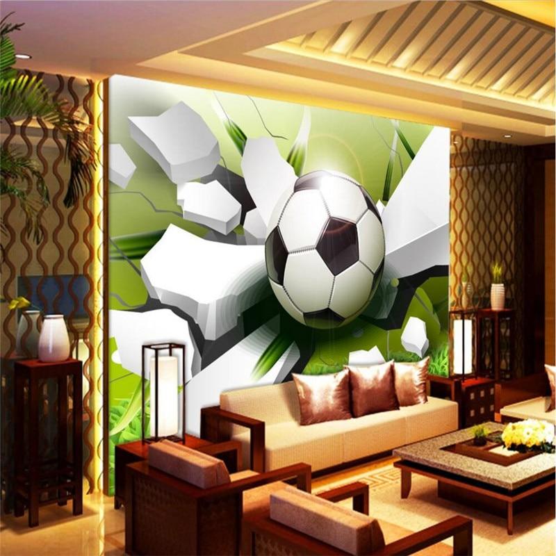 photo wallpaper photography Modern World Cup Football paper broken wall living room sofa background 3d wall mural wallpaper<br><br>Aliexpress