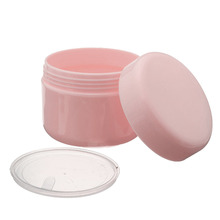 50g Talcum Powder Empty Plastic Container With Lid Cylinder Cream Jars Cosmetic Packaging Travel Pot Makeup Round Tin Cans Box(China)