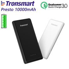 Buy Tronsmart Presto 10000mAh PBT10 Power Bank Quick Charge Powerbank External Portable Phone Battery Charger CE RoHS Black White for $29.99 in AliExpress store