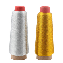 Gold Silver Computer Cross-stitch Embroidery Threads 3000M Sewing Thread Textile Metallic Yarn Woven Sewing Machine Cones Line(China)
