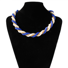 Mdiger Brand New Fashion Knit Necklaces For Women Charm Necklaces Jewelry Bijoux Handmade Sweater Chain Female Choker Necklace