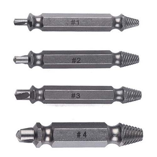 New 2016 4Pcs Screw Extractor Drill Bits Guide Set Broken Damaged Bolt Remover Speed Out<br><br>Aliexpress