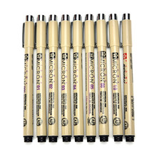 Sakura Pigma Micron Pen Neelde Soft Brush Drawing Pen lot  005 01 02 03 04 05 08 1.0 Brush Art Markers