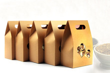 10*15.5*6cm 10pcs/lot stand up window Kraft Paper bag Party Gift Packing Box Cookie/Candy/Nuts bag/DIY Gift Handle Packing Box(China)