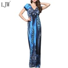 New fashion sexy leopard plus size dress for women summer v-neck short sleeve bohemian beach party dresses vestidos clothes(China (Mainland))
