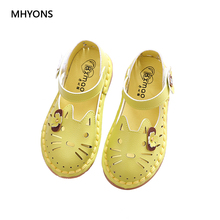 Buy MHYONS Summer New Korean Girl Sandals Soft Children Princess Shoes Baby Shoes Fashion Cartoon Cat Sandals Girls Shoes Kids for $7.66 in AliExpress store