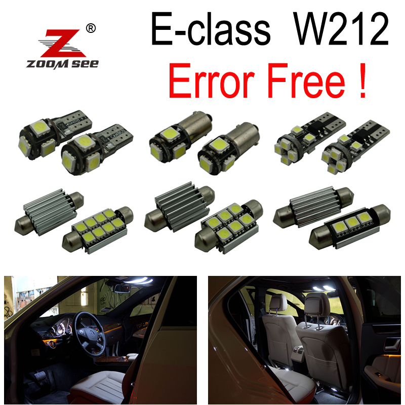 25pcs Error free LED Bulb Interior Light Kit For Mercedes For Mercedes-Benz E class W212 E250 E320 E350 E400 E550 E63 AMG 09-15<br>