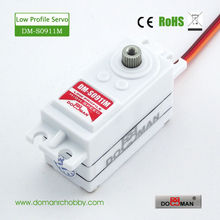 4pcs/lot DM-S0911M 42g/0.12s/7kg.cm DOMAN RC hobby helicopter used titanium gear digital low profile servo(China)