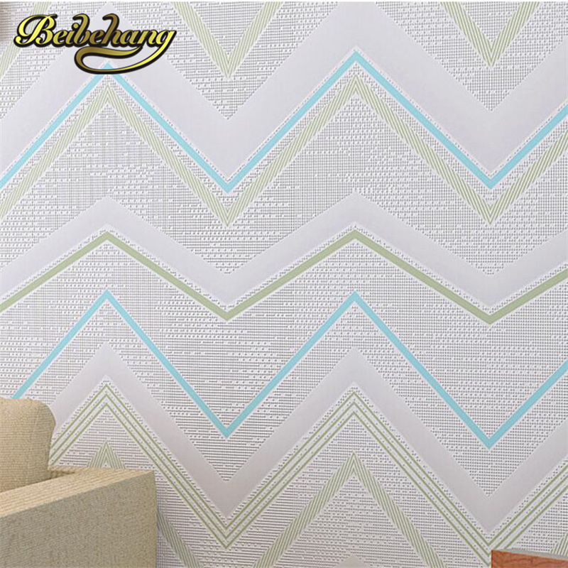 beibehang 3D wallpaper Deep Embossed wall paper non-woven wall covering curve wave pattern kids room/colorful Textured<br>