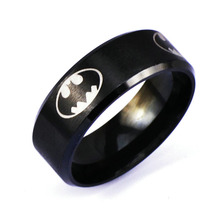 (1 piece/lot) 11 Designs SUPPORT TOP SUPER MAN Men's Hematite Stainless Steel Ring Smile Face Emoji Ring(China)