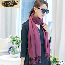 70*180 CM 19 Colors Female Trendy Wrap Scarf Wool Blends Soft Warm Women's Long Large Shawl Tassels Neck Scarves