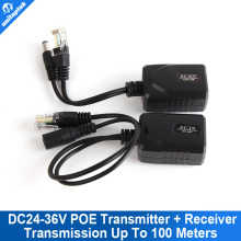 CCTV POE Splitter Separator Transmitter +Poe Receiver  DC24-36V Power Supply For RJ45 Network Cable Long-Distance To 100 Meters