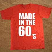 Brand Clothing Made in the 60s 1960 est birthday Funny T Shirt Tshirt Men Short Sleeve T-shirt Top Tees Camiseta