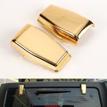 Golden Rear Door Windshield Hinge Covers for Jeep Wrangler 2008-2016 Back Windows Hinges Decoration Cover ABS(China)