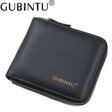 Famous Brand Small Short Genuine Leather Men Wallet Male Clutch Coin Purse Bag Card Holder Money Cuzdan Vallet Boy Change Perse(China)