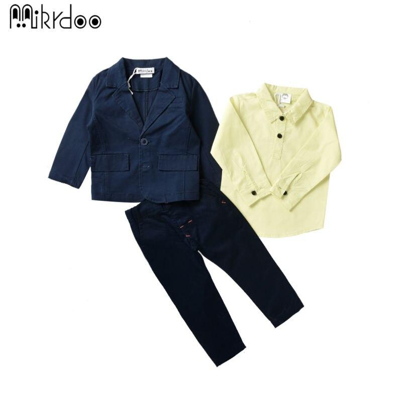 Kids boy clothes formal gentelman wedding clothing set fashion long sleeve turn-down collar shirt male suit blazer pants best<br><br>Aliexpress