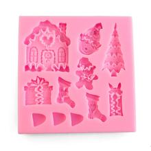Ledifly Christmas Tree XMAS Snowman Cake Mold Silicone Soap Molds Cake Fondant Mould Chocolate