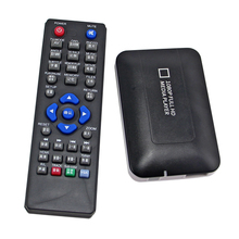 Free shipping K5 Car HDD Media player MINI Full HD 1080P USB SD MMC support MKV DVD MPEG Player AV/HDMI output Free Car adapter!
