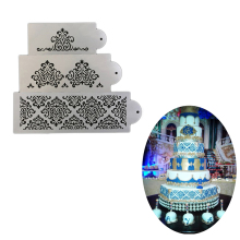 1 Pcs Cake Decorating Stencil Template Mold Biscuit Bakery Tool Fondant Mould Crown King Queen Baking Gadgets Powder Sieve Spray