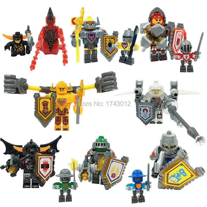 Nexus Knights Castle Knights LELE 79305 Minifigure 16pcs/lot Jestro Macy Lance Aaron Toys For Children Lepin Building Bricks<br><br>Aliexpress