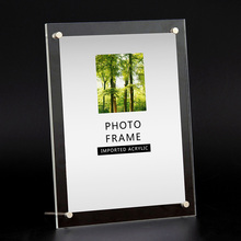 6/7/8/10/12 Inch Photo Frame Acrylic Picture Frame Modern Photo Picture Holder Display Wedding Photo Frames for Pictures(China)