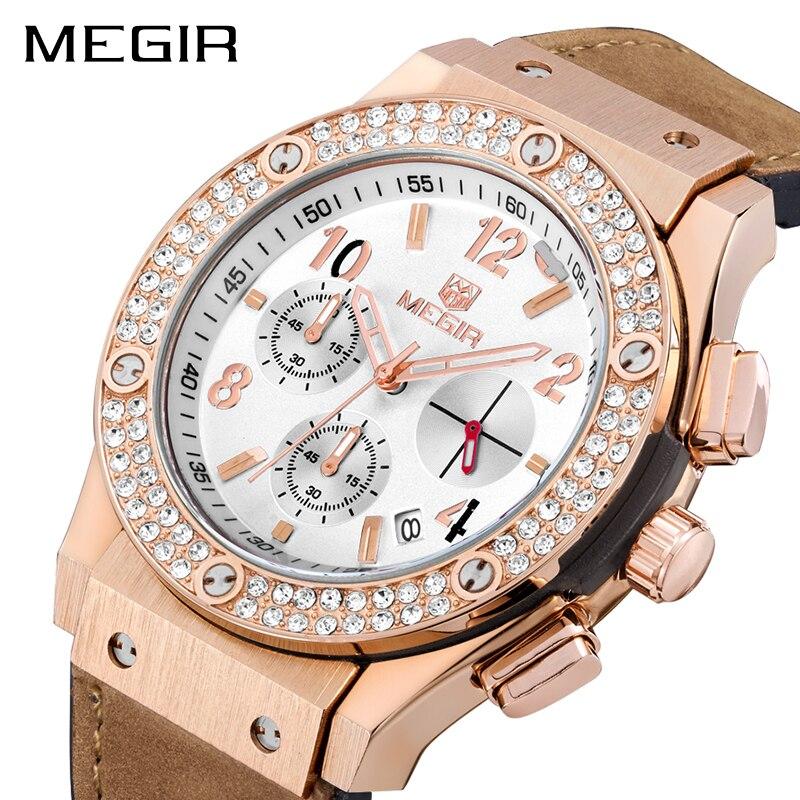 MEGIR Sport Women Watches Fashion Brand Luxury Quartz Ladies Wrist Watch Women Relogio Feminino Montre Femme Chronograph 2034<br>