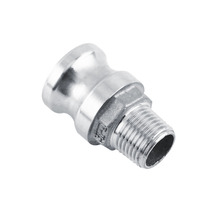 "Factory Price Pipe Fitting 1/2"" BSP Stainless Steel 316 Trash Pump Adapter Male Camlock x Male Pipe Threads"