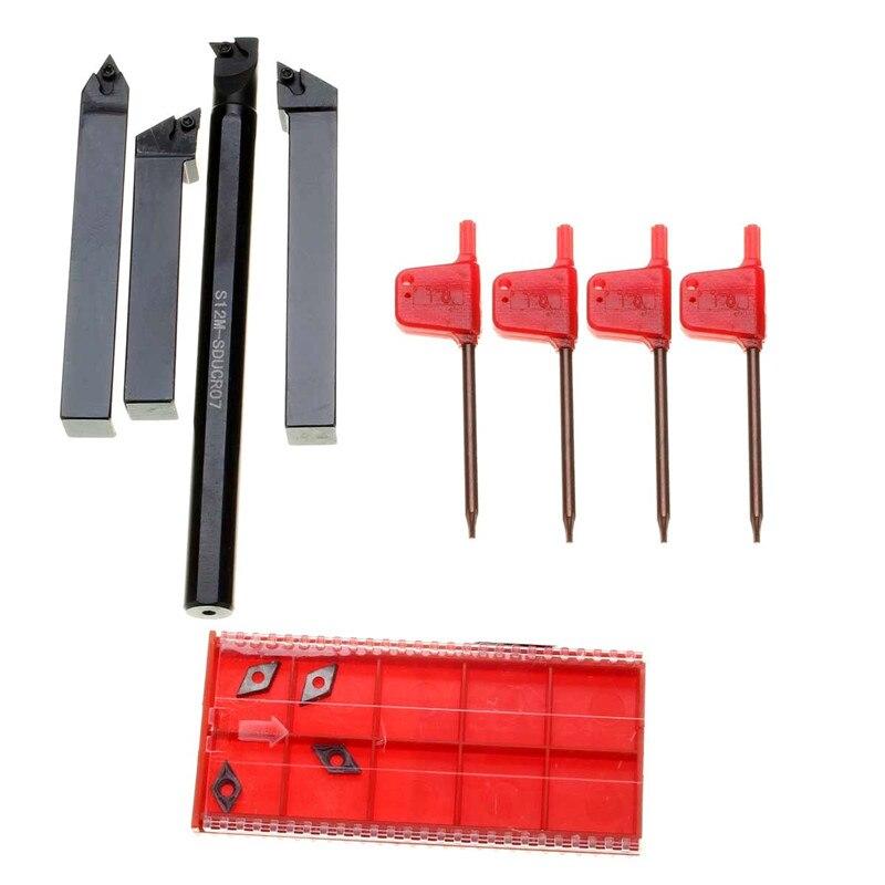 New Arrival 4pcs Internal Lathes Threading 12mm Boring Bar Turning Tool Holder SDJCR/L SDNCN Brand New<br>