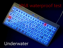 YLGF L27LED-WH, IP67, IP68, waterproof keyboard, industrial keyboard, silicone, mute, backlight, embedded, LED backlight