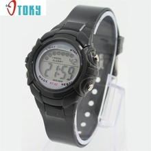 Hot hothot LED Watch for Boy Girl Alarm Date Digital Multifunction Sport LED Light Wrist at3