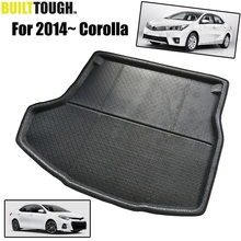 Fit For 2014 2015 2016 2017 Toyota Corolla Altis 4dr Sedan Boot Mat Rear Trunk Liner Cargo Floor Tray Carpet Mud Kick Protector