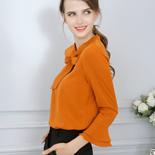 Buy BIBOYAMALL Women Blouses 2018 Spring Casual Elegant OL Chiffon Blouse Short Sleeve Work Wear Blusas Tops Shirts Plus Size White for $9.88 in AliExpress store
