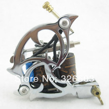 One 10 Wrap Coils Aluminum Alloy Frame Tattoo Machine Gun For Kit Set Supply DTM04-A