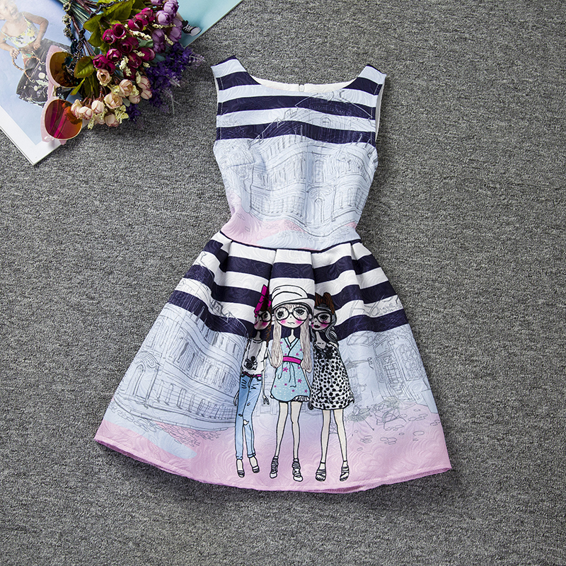 Hot Kids Dresses For Girl Size 12 Years Teen Girls Clothes Summer Floral Printed Dresses Girls Clothes Baby Princess Dress Cheap(China (Mainland))