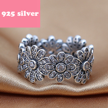 PJR042 hot sale 925 silver ring . flower ring with stone luxury Accessories. Fashion women Accessories rings for woman(China)